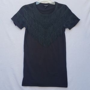 Top Shop Dress Shirt with Fringe Sz 4